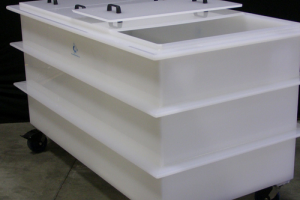 Plastic tanks, nonstandard manufactures from plastic