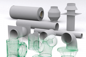 Plastic ventilation system HOKA
