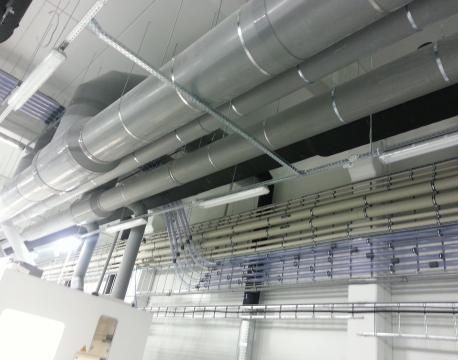 BOD grupės gamykla - plastikinė ventiliacija ir technologiniai vamzdynai